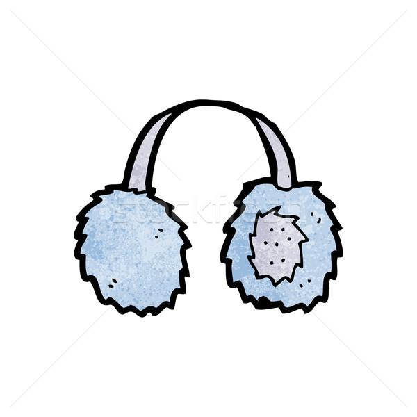 cartoon ear muffs Stock photo © lineartestpilot