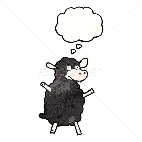 cartoon black sheep Stock photo © lineartestpilot
