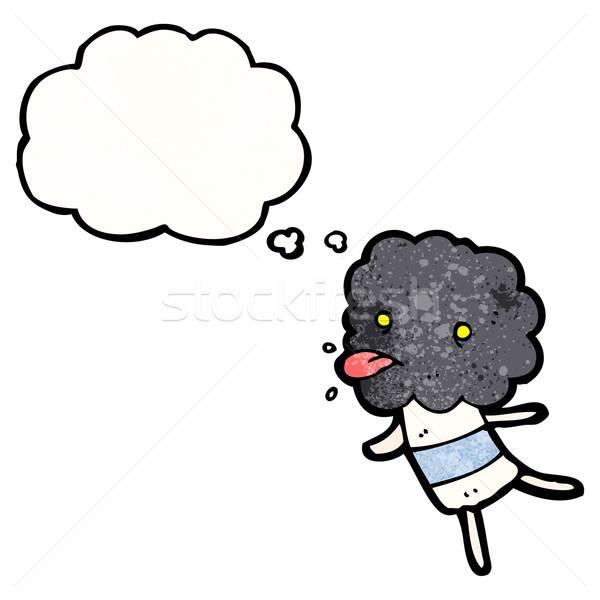 cartoon storm cloud creature Stock photo © lineartestpilot