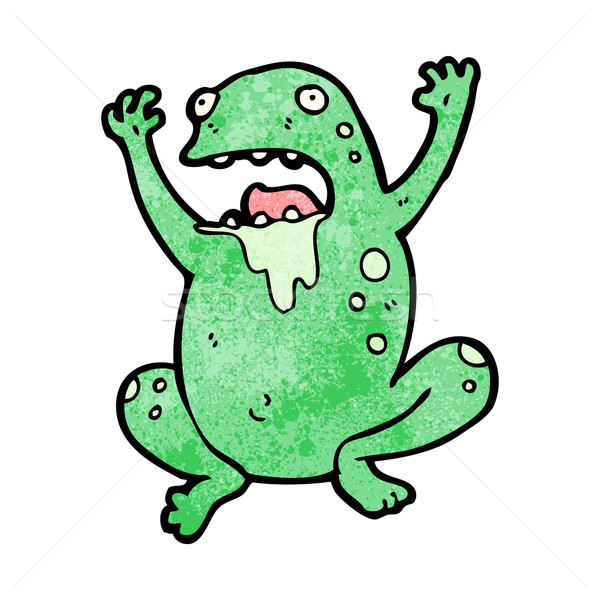 gross cartoon frog Stock photo © lineartestpilot