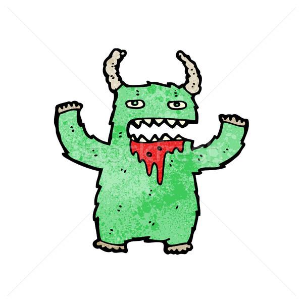Cartoon behaard monster geen beschrijving kunst Stockfoto © lineartestpilot