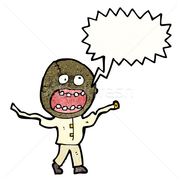 cartoon screaming crazy madman Stock photo © lineartestpilot