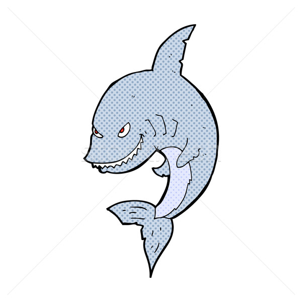 funny comic cartoon shark Stock photo © lineartestpilot