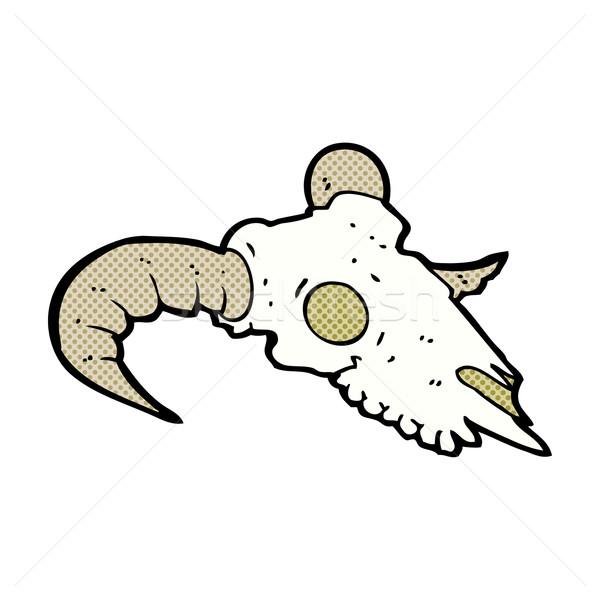Cómico Cartoon carnero cráneo retro Foto stock © lineartestpilot