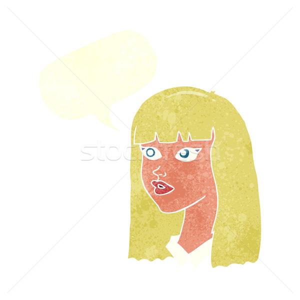 漫画 かなり 少女 長髪 吹き出し 手 ストックフォト © lineartestpilot