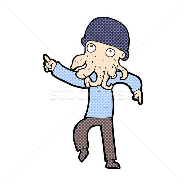 Dessinées cartoon exotiques homme danse rétro Photo stock © lineartestpilot