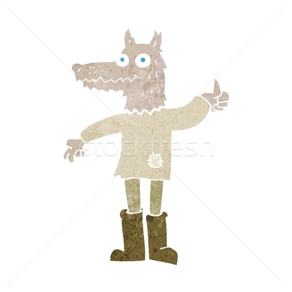 cartoon wolf man Stock photo © lineartestpilot