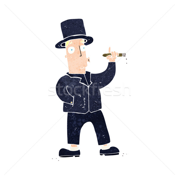 Rajz dohányzás úriember kéz férfi terv Stock fotó © lineartestpilot