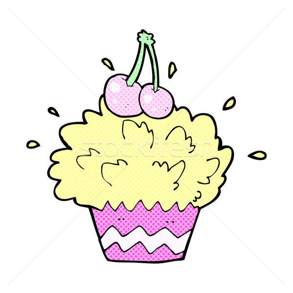 comic cartoon exploding cupcake Stock photo © lineartestpilot