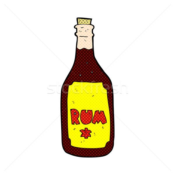 Fumetto cartoon rum bottiglia retro Foto d'archivio © lineartestpilot