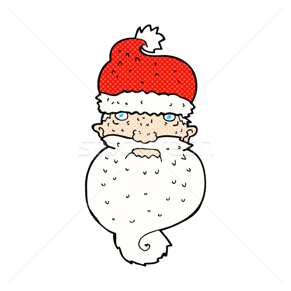 comic cartoon grim santa face Stock photo © lineartestpilot