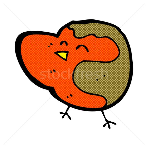 comic cartoon robin Stock photo © lineartestpilot