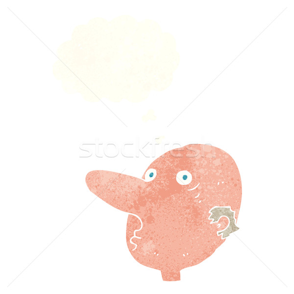 cartoon balding man with thought bubble Stock photo © lineartestpilot