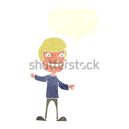 cartoon startled man with thought bubble Stock photo © lineartestpilot