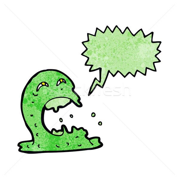 Karikatür hayalet konuşma balonu el dizayn çılgın Stok fotoğraf © lineartestpilot