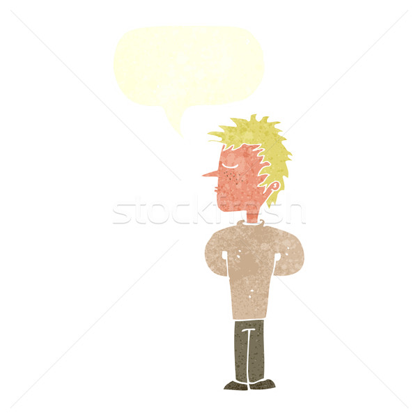 cartoon man ignoring with speech bubble Stock photo © lineartestpilot