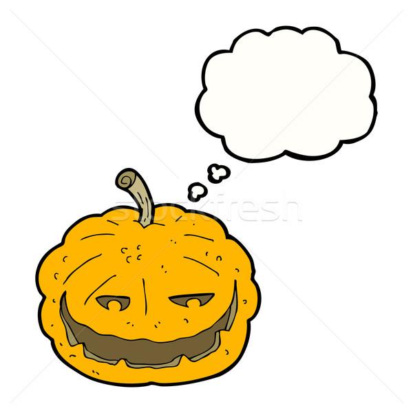 Rajz halloween tök gondolatbuborék kéz terv művészet Stock fotó © lineartestpilot