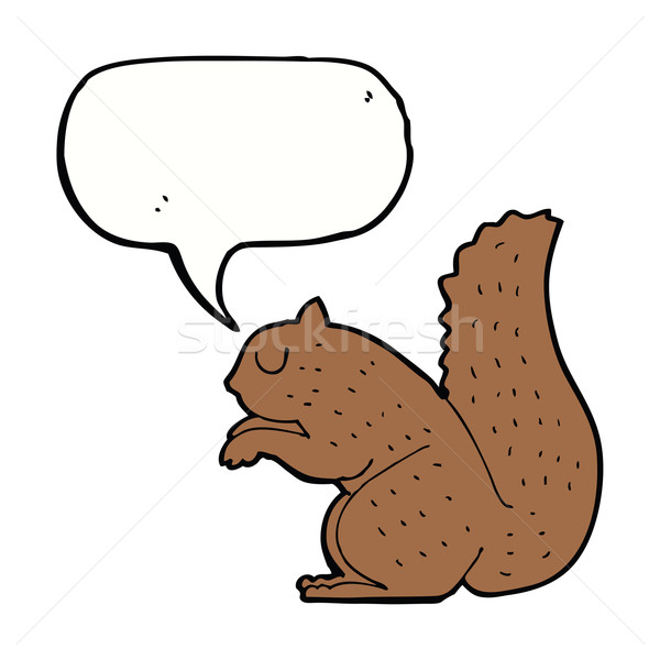 Cartoon ardilla bocadillo mano diseno arte Foto stock © lineartestpilot