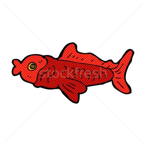 comic cartoon funny fish Stock photo © lineartestpilot