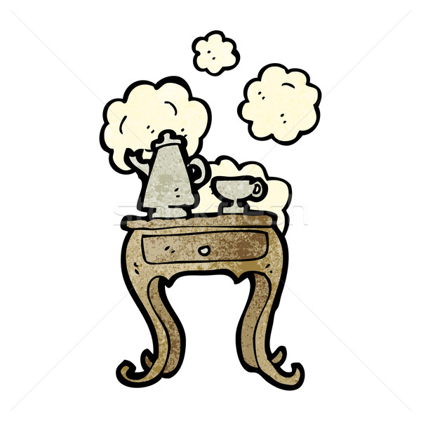 cartoon bedside table Stock photo © lineartestpilot
