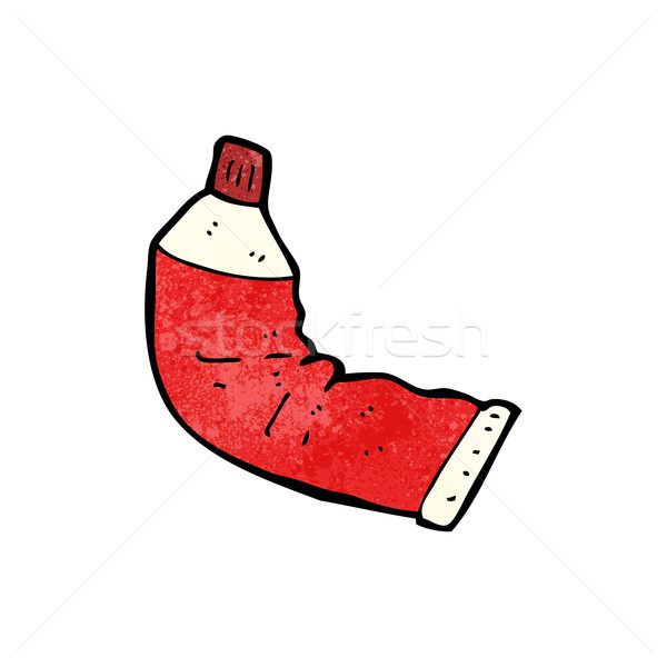 cartoon squeezed toothpaste tube Stock photo © lineartestpilot
