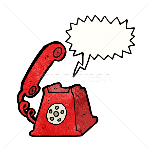 cartoon telephone ringing Stock photo © lineartestpilot