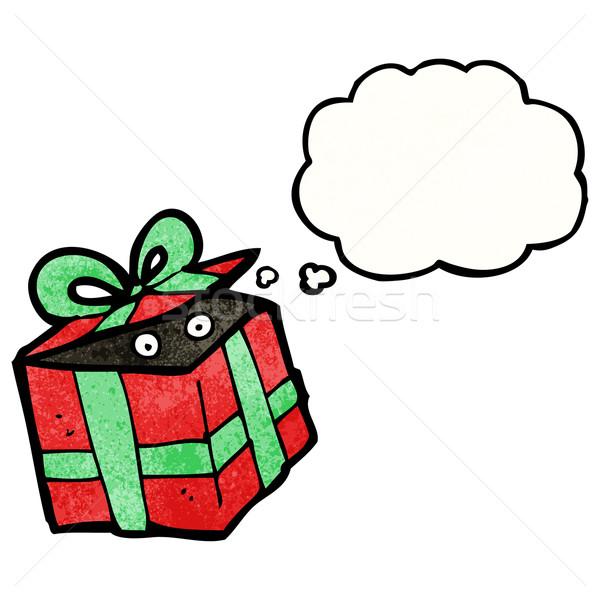 karikatur vorliegenden retro weihnachten ballon. Black Bedroom Furniture Sets. Home Design Ideas