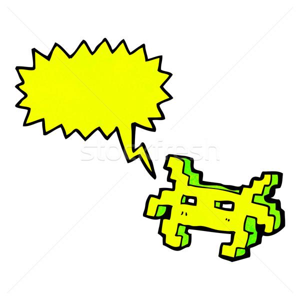 Gra komputerowa charakter cartoon retro tekstury odizolowany Zdjęcia stock © lineartestpilot
