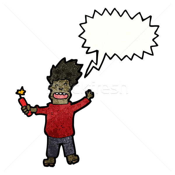 cartoon man with dynamite Stock photo © lineartestpilot