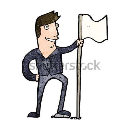 Cartoon жесткий человека стороны дизайна Crazy Сток-фото © lineartestpilot
