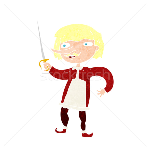 cartoon musketeer Stock photo © lineartestpilot