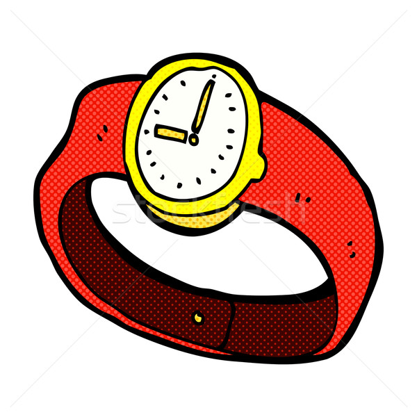 comic cartoon wrist watch Stock photo © lineartestpilot
