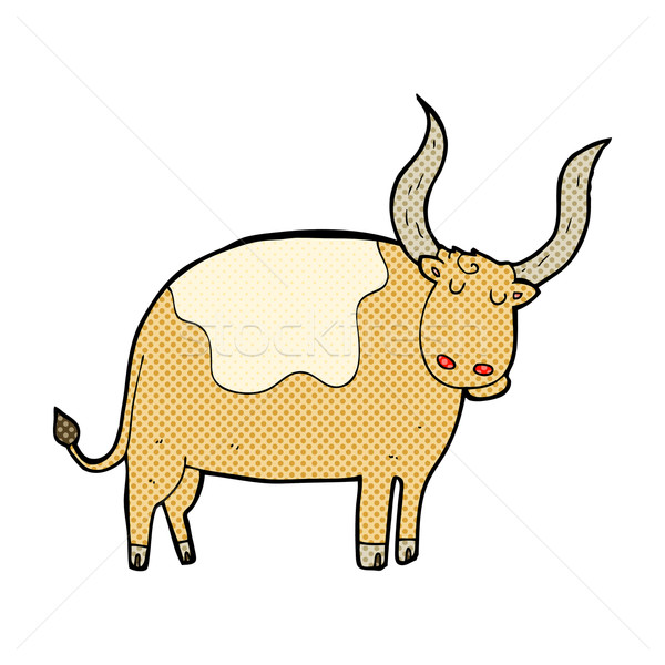Stock photo: comic cartoon ox