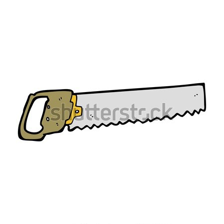 Komische cartoon zag retro stijl Stockfoto © lineartestpilot