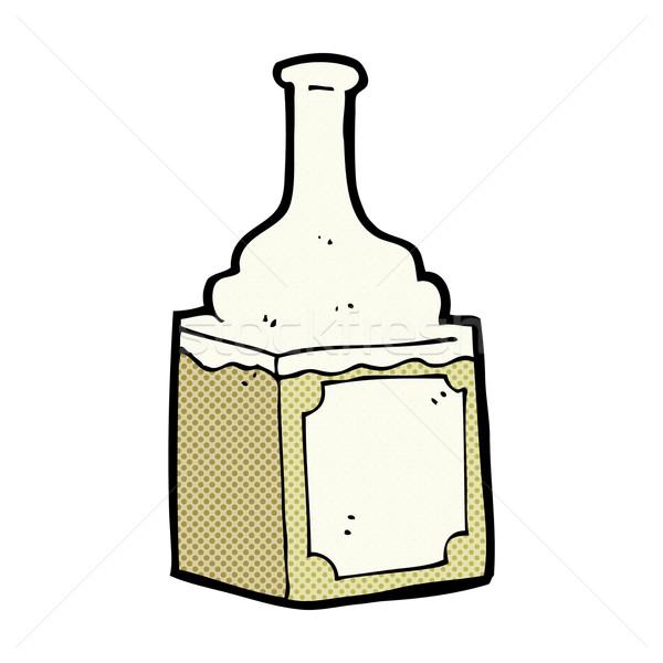 Fumetto cartoon whiskey bottiglia retro Foto d'archivio © lineartestpilot