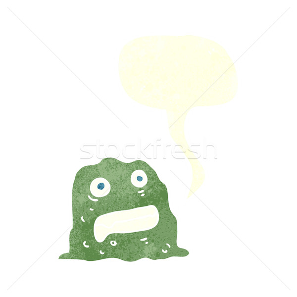 cartoon slime creature with speech bubble Stock photo © lineartestpilot