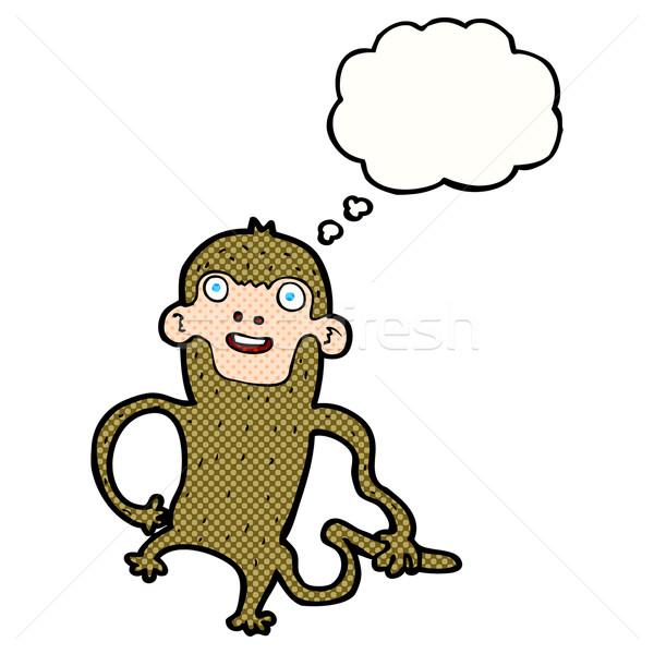 Cartoon mono burbuja de pensamiento mano diseno arte Foto stock © lineartestpilot