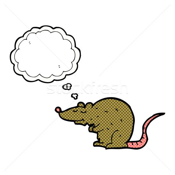 Cartoon rata burbuja de pensamiento mano diseno ratón Foto stock © lineartestpilot