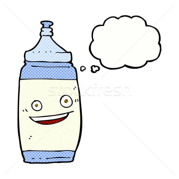 cartoon water bottle with thought bubble Stock photo © lineartestpilot