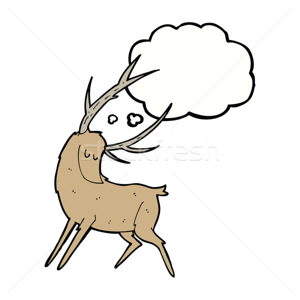 cartoon stag with thought bubble Stock photo © lineartestpilot