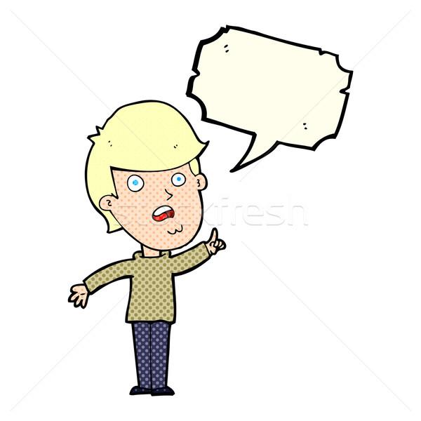 Cartoon hombre cuestión bocadillo mano Foto stock © lineartestpilot