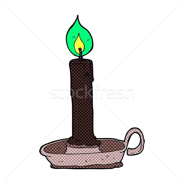 Cómico Cartoon negro vela retro Foto stock © lineartestpilot