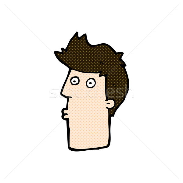 comic cartoon surprised man Stock photo © lineartestpilot