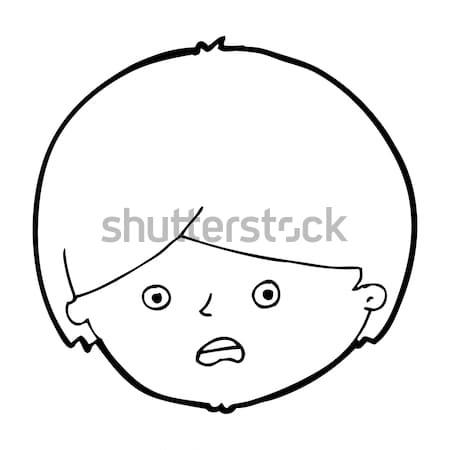 Cómico Cartoon cara feliz retro estilo Foto stock © lineartestpilot