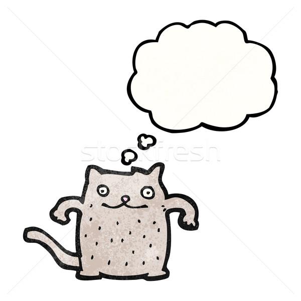 Engraçado desenho animado gato versão textura mão Foto stock © lineartestpilot