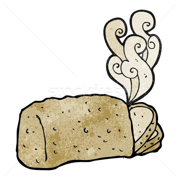 горячей хлеб Cartoon текстуры стороны счастливым Сток-фото © lineartestpilot