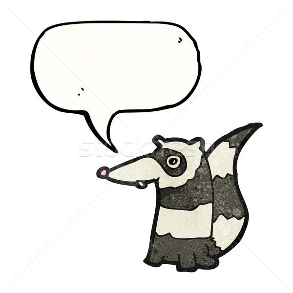 Cartoon wasbeer textuur hand gelukkig tekening Stockfoto © lineartestpilot