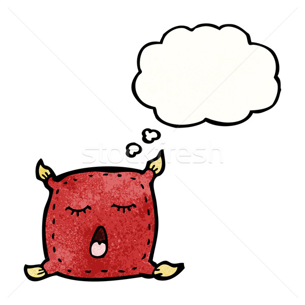 cushion with though bubble cartoon Stock photo © lineartestpilot
