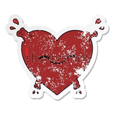 heart pumping blood cartoon Stock photo © lineartestpilot