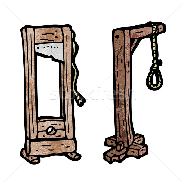 cartoon guillotine and gaols Stock photo © lineartestpilot